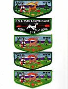 5 Sumi Lodge 342 Adviser Flaps, Extremely Rare, Forty-niner Council,stockton Ca