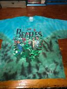 Vintage 1990's Awesome Beatles Garden 2-sided Tie-dye Print, Size Xl