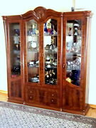 Wall Unit Classic China Display Storage Cabinet Solid Wood