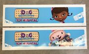 2 Doc Mcstuffins Toy Hospital Store Display Sign Banner 48x12