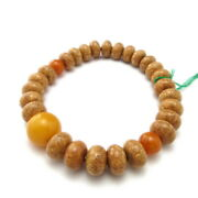 Bodhi Seed Wood And Honey Amber Beads Japanese Bracelet Prayer Bead Gifts For He