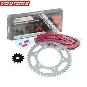 Red Chain Sprocket For 2005-2018 2017 2016 2015 2014 2013 2012 2011 Yamaha Yz125