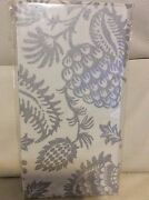 Williams Sonoma Pinecone Napkins Set Of 4 New Silver Shimmer Winter Christmas