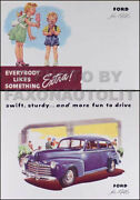 1946 Ford Car Set Of Two Brochures - Color Sales Brochure And Accessory Catalog