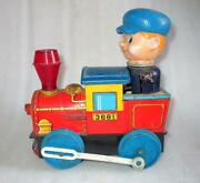Vintage Old Modern Toy's Trade Mark 3681 Engine Battery Litho Tin Toy , Japan