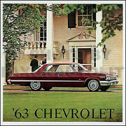 1963 Impala Ss Bel Air Sales Catalog And Accessory Brochure Set Chevy Brochures