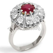 Russian Style Genuine Ruby And Diamond Ring Russian Jewelry 585 14k R1316