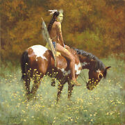 Howard Terpning Color Of Sun Anniversary Giclee Canvas Artist Proof A/p 18/40