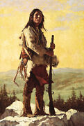 Howard Terpning The Long Trail Ahead Giclee Canvas Native American