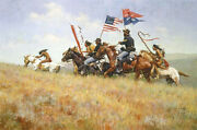 Howard Terpning Flags On The Frontier 43x28andfrac12 Giclee Canvas