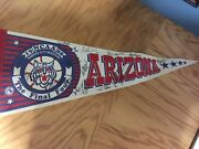 1988 University Of Arizona Mens Final Four Pennant -- Autographed By Players