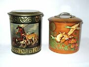 .....two Hunt Related Candy Tins..hunter With Dog // Wild Ducks ....