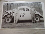 1937 Ford Race Car 12 Hagerstown Md Speedway 11 X 17 Photo Picture