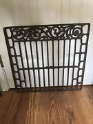 Antique Aprox 18 1/4 W By 17 1/2 Ornate Cast Iron Kitchen Stove Oven Rack Grate