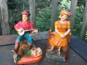 Vintage Antique Hee Haw Grandpa Jones And Minnie Pearl So Proud To Be Here ❤️j8