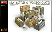Miniart Milk Bottles And Wooden Crates, Accessories In 1/35 573 St B1