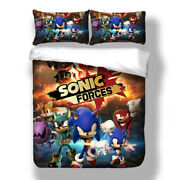 Hedgehog Sonic Bedding Set Duvet Cover Twin Full Queen King Game Quilt Cover