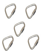 5 Pcs Stainless Steel 3/16 Marine Triangle Quick Link 660 Lbs Shackle Boat Rig