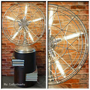 Industrial 1940's Fresh'nd Aire Vintage Re-purposed Steampunk Electric Fan Lamp