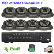 8ch Network Nvr Sony Cmos 2592p 5mp Poe Ip Ip66 Onvif 3d Security Camera System