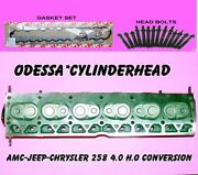 Amc Jeep Chrysler 258 4.0 H.o Conversion Cylinder Head Bolts And Gaskets Rebuilt