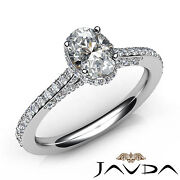 Oval Cut Diamond Engagement French V Pave Basket Set Ring Gia E Color Vs1 1.15ct