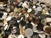Huge Lot 2500 Pcs Mixed Lot Of Old-vintage And New Buttons All Types And Sizes