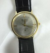 Vintage Lucien Piccard Seashark 14k Yellow Gold Wrist Watch With Strap