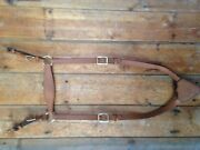 Light Horse Wwi Leather Breast Plate Reproduction, Cavalry Saddle