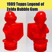 Vintage 1989 Topps Link Bubble Gum Candy Container Nintendo Zelda Red