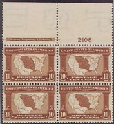 Sc 327 Og Mnh Block Of 4 Louisiana Purchase 1904 Imprint And Pl 2108 Cert