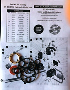 Seal Kit - Stanley Ds11 / Ds12 Hydraulic Chain Saw Seal Kit 22798 Pack Of 10