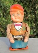 Vintage Old Rare Battery And Wind Up Cameraman Clicking Photo Tin Toy Japan.