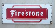 1930and039s Old Vintage Collectible Old Firestone Tyre Ad Enamel Porcelain Sign Board