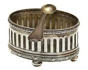 Rare Russian Silver Salt Cellar With Spoon Marked