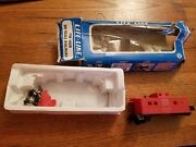 Vintage A.t.s.f. 1951 Ho Scale Toy Train Caboose Car Red Black Pieces Parts