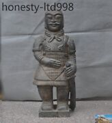 28 Antique Old China Meteorites Hand-carved Terracotta Warriors Soldier Statue