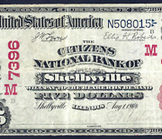 Il 1902 5 Red-seal ♚♚ Shelbyville Illinois ♚♚ Pmg Vf 25 Only 2 Known