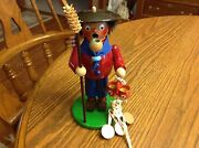 Steinback Wood Smoker Incense Burner Peddler Used Approx 8 Tall