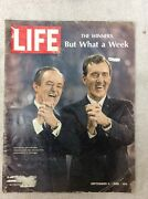 Life Magazine Sept 6 1968 Humphrey And Muskie Democratic Convention In Chicago