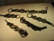 Vintage Rare U.s. Cavalry Solid Brass Horse Parade Brasses With Rings And Clips