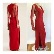 Versace Sexy Sheer Sides And Back Runway Gown Sz 40 Msrp 4995