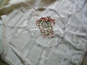 Sale New Silk Ribbon Hand Embroidered Tablecloth Heirloom Sewing