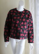 Peruvian Connection M Funky Art-to-wear Abstract Padded Funky Short Jacket Coat