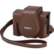 Canon Csc-g10bw Soft Case Brown For Powershot G1 X Markiii Japan With Tracking