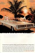 1964 Vintage Print Ad Car Pontiac We Donand039t Have To Spend Time Telling Car Art