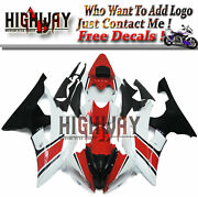 Red Black Motorcycle Abs Fairings Body Work Kits Set Fit Yamaha Yzf R6 08-15