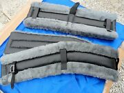 Horse Or Mule Fleece Harness Saddle And Breast Collar Pads Set Amish Made Gray