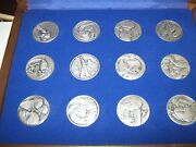 The Medallic History Of The Jewish People In Our Time , 12 Silver Medals