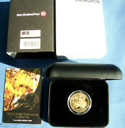 Rare 2012 10 Au 1 Pf Ag 1 Spec. New Zealand Kiwi Treasures Kowhai Coins